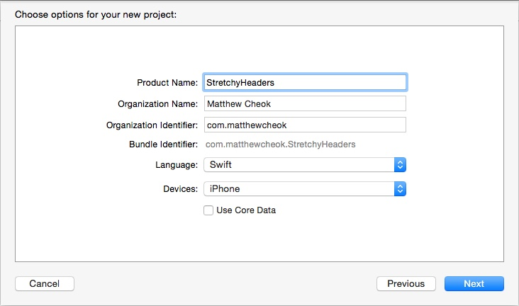 Xcode Project Settings